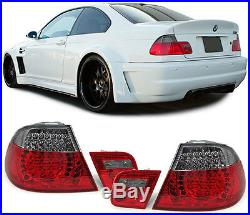 2 Feux Arriere A Led Rouge Smoke Bmw Serie 3 E46 Coupe Pack Sport 04/1999-03/200