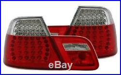 2 Feux Arriere Led Red Clear Bmw Serie 3 E46 Coupe Pack Sport 04/2003