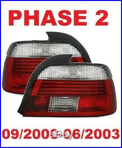 2 Feux Arriere Led White Rouge Bmw Serie 5 E39 Berline Pack Sport 09/2000-06/200