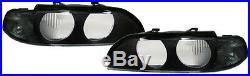 2 Glace Optique Avant Black Sx Bmw Serie 5 E39 Break Pack Sport 11/1995-08/2000