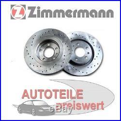 2 Zimmermann Disques de Frein de Sport Arrière BMW Série 7 E38 740 750 8 E31 850