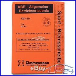 2x Zimmermann Sport Disque De Frein Ventilé Ø312 Avant Bmw Série 3 E92 E93