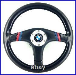 360mm Noir Volant Cuir Avec Moyeu Kit Pour BMW E30 E28 E24 Etc 17A