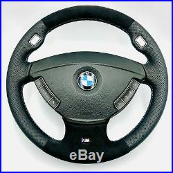 Alcantara Volant Cuir BMW 7er Série E65, E66 Sport M Volant Mfu et Airbag 2n