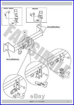 Attelage Démont 7Br Faisceaux pour BMW 1 Series Hayon pas M Sport 11-15 06 B1