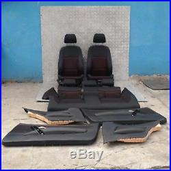 BMW 1 Série 1 E81 Sport Tissu Intérieurs Sièges Airbag Porte Cartes Noir Rouge