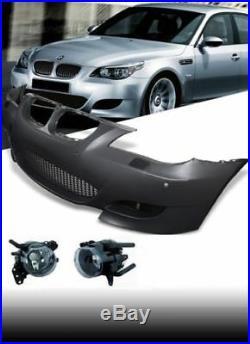 BMW 5 Série E60 E61 M5 Aspect Sport avant Pare-Choc Pdc Complet + Brouillards