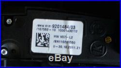BMW 7 Série F01 Enter Console Pdc Sport Confort Camera Switch 9201484 2011 LHD