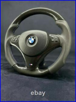 BMW E90 E92 E82 E87 Carbone Direction Roue Plat Bas M Performance Power Sport