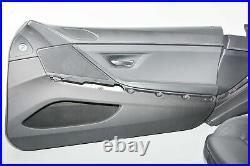 BMW F13 6 Série Sport Intérieur Siège Cuir Leder Dakota Schwarz Rhd