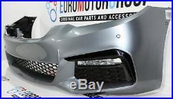BMW M Sport devant Pare-Chocs Capot Choc-Receveur Pdc Led 5er G30 G31 Bleu Stone