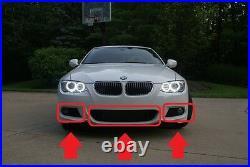 BMW Neuf Véritable 3 Série E92 E93 LCI M Sport Pare Choc Avant Bas Grilles Set