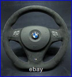 BMW Personnalisé Direction Roue M3 E91 E92 E93 E82 E90 E87 100% Alcantara Plat