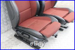 BMW Série 1 E82 Deux Cuir Noir Orange Intérieur Sport Siège avec Porte Cartes