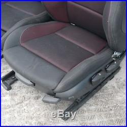 BMW Série 1 E87 LCI M sport tissu intérieurs sièges CARTES Canneberge Rouge