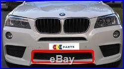 BMW X3 Série 10-14 Neuf D'Origine avant M Sport Pare-Choc Bas Central Grille
