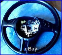 Bmw Serie 3 E46 Volant Cuir Sport III Branche Finition Noir Matte