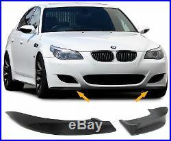 Carbone avant Pare-Choc Duplicateurs Ailerons BMW E60 E61 5 Série M Sport Rabats