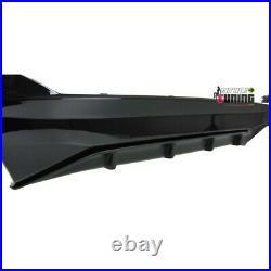 Diffuseur Sport Noir Double Sortie Duplex Pour Bmw Serie 5 G30 En Pack M (04951)