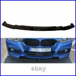 LAME DU PARE-CHOCS AVANT / SPLITTER BMW 3-SERIES F30 FL SEDAN M-SPORT Noir Brill