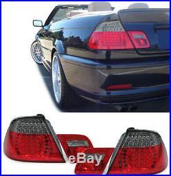Led Feux Arrières Rouge Noir Sport Optique pour BMW 3 Série E46 Cabriolet 00-07
