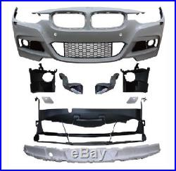 Pare choc avant BMW serie 3 F30 11-15 ABS a peindre Look sport 296-1