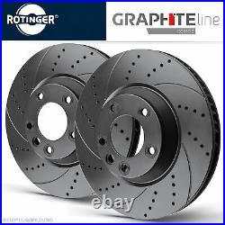 Rotinger Graphite Sport-Bremsscheiben-Satz Avant 34111151655 Pour BMW 5ER