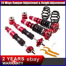 TMT COILOVER suspension 24 ways Adj. Damper for BMW E46 3 Series absorber Rouge