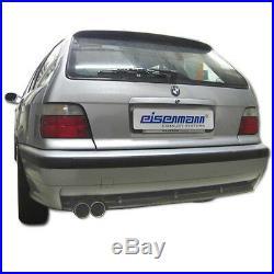 Tuyau D'Échappement de Sport Eisenmann + Vbr BMW Série 3 E36 325i 328i 2x70mm