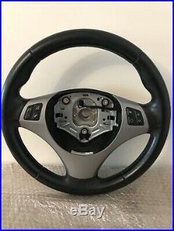 VOLANT Sans Airbag Dorigine BMW serie 1 et 3 E87 E81 E90 E91 E92 E93 SPORT CUIR