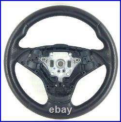 Véritable BMW E60 E61 E63 E64 5 6 Série M Sport Cuir Noir Direction Roue 17B