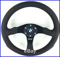 Véritable Momo Compétition 350mm Direction Roue BMW Corne. 3 5 6 7 Série Etc